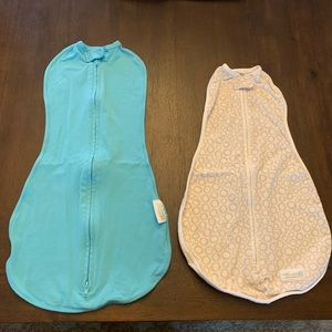 Woombie swaddles 5-13 lbs and 14-19 lbs